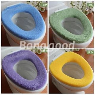 WC Bathroom Warmer Toilet Closestool Washable Cloth Soft Seat Lid