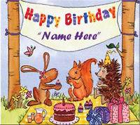 Personalised Happy Birthday CD With Name In Song
