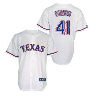 Alexi Ogando Texas Rangers Youth Home Replica Majestic Jersey