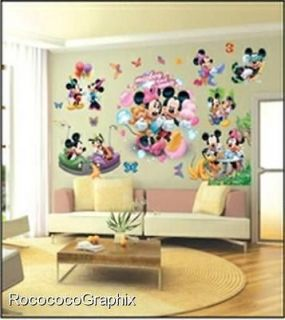 LARGE DISNEY MICKEY MOUSE WALL STICKERS CHILDREN KIDS BEDROOM DECOR