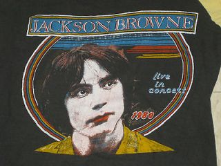 vtg RARE 70s JACKSON BROWNE 1979 80 Tour Jersey Shirt RUNNIN ON