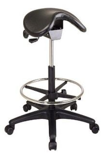 NEW TALL SADDLE SEAT ERGONOMIC MEDICAL DENTAL TATTOO OFFICE STOOLS