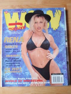 WOW World female wrestling magazine/Diva SABLE RENA MERO 10 99 Volume