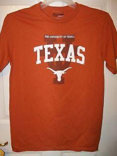 University of Texas Longhorns Orange Short Sleeve Shirt Mens Size