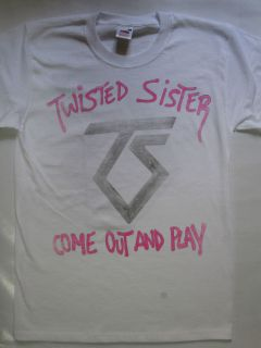 TWISTED SISTER   COME OUT AND PLAY  WHITE T SHIRT (S XXL)