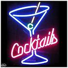 Martini Cocktail, Neon Sign, Party, Beer, Alcohol, Bar,Buffet, 17 x 21