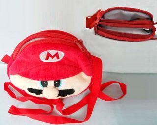 Super MARIO Bros LUIGI Plush Girl/Boy Shoulder Bag Red ET0061 DD