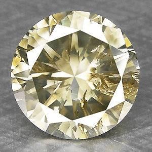 18cts,6.8mm Round Fancy Grayish Yellow Natural Loose Diamond