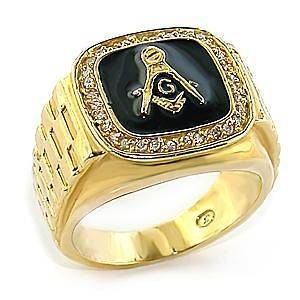 NEW MASONIC FREEMASON MENS GOLD PLATED DESIGNER STYLE RING SIZE 13