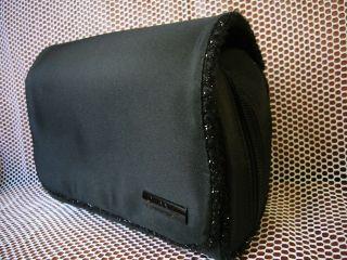 CHANEL flap Cosmetic bag make up bag travel case Clutch ~ Black ~