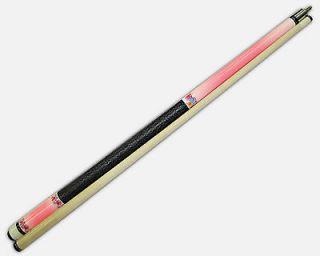58  Pink 2 Pce Hardwood Maple Pool Cue Billiard Stick 19 Oz W/ Steel