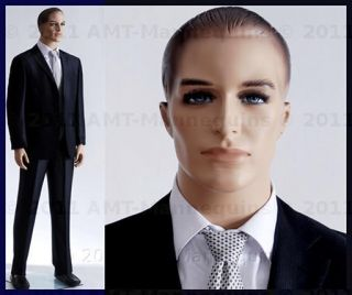 Male mannequins display business men suit, T shirts manequin manikin