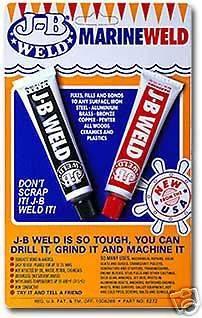 new J B WELD MARINE cold weld Epoxy Resin   Made in USA
