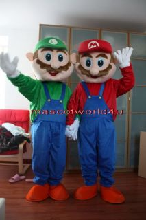 Professional Super Mario and Luigi Mascot Costume