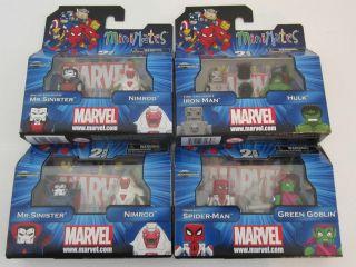 Marvel Minimates Wave 41 w/Green Goblin, Spider Man, Hulk, Iron Man
