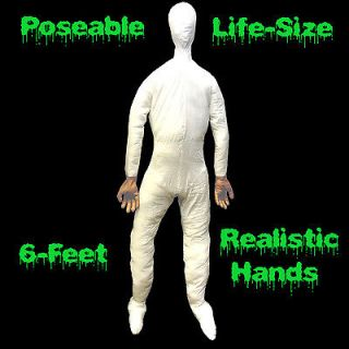 ft Life Size Male POSEABLE MANNEQUIN DISPLAY DUMMY Halloween Costume