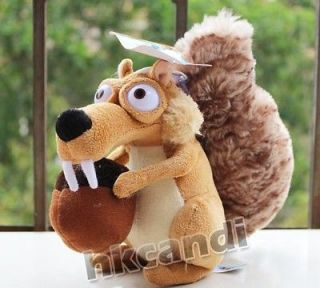 ICE AGE  Squirrel male Scrat Stuffed ANIMALS STUFFED TOY 7.5 NEW