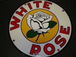 White Rose Oil Gas Porcelain Advertising sign