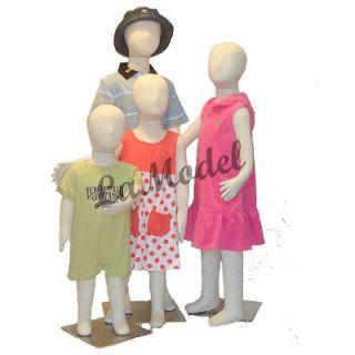 Children / kids mannequin flexible body dress form 4 units sizes 1T