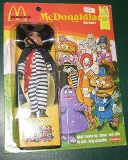 1976 McDonaldland Hamburglar Doll McDonalds Figure REMCO Toys NIB MOC
