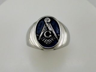 masonic ring stainless steel in Mens Jewelry