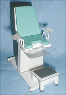 handcrafted Medical GYN Chair blue hospital doctor 112th scale