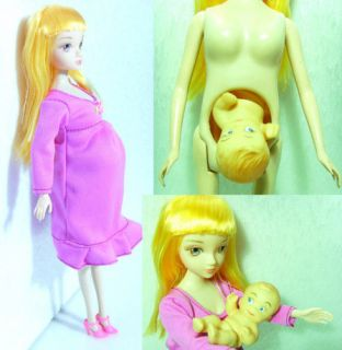 NEW Pregnant Mom doll real pregnant body baby