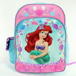 Disney Little Mermaid Ariel Seashell 16 Large Backpack   Book Bag