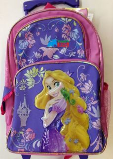 . inch ARIEL PRINCESS MERMAID Rolling Backpack Wheels book bag sack