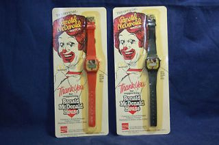 LOT of 2 Official Ronald McDonald McDonalds Coca Cola Watch Unopened