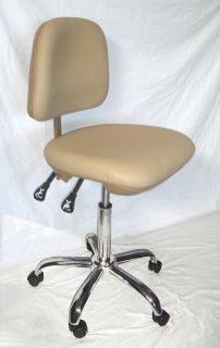 MEDICAL OFFICE DENTAL DOCTORS STOOL/CHAIR / TAN