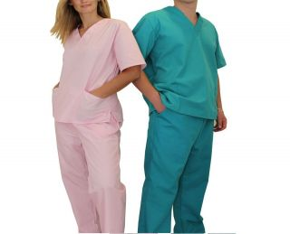 Medical Scrubs Sets NATURAL UNIFORMS XS S M L XL XXL XXXL Unisex Tops