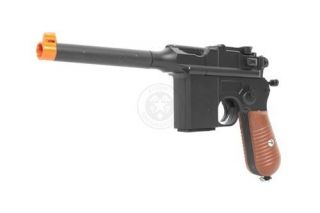 Galaxy Full Metal WWII C96 Broomhandle Spring Airsoft Gun Pistol