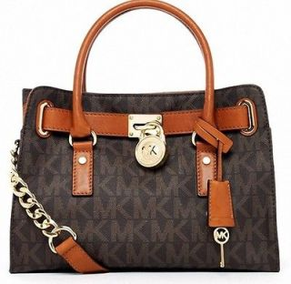 Michael Kors Hamilton Small Tote Handbag Satchel MK Logo Bag $278