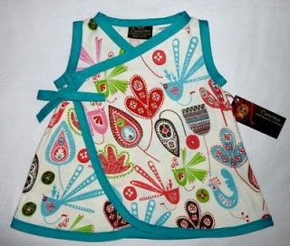 New Bird Blue Flannel Mexican wrap toddler baby girl dress kid clothes