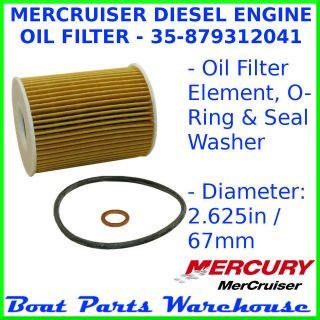 CMD MERCRUISER DIESEL ENGINE OIL FILTER   QSD 2.0 / ES 130 150 170