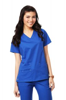 MEDICAL SCRUBS ROYAL BLUE MAEVN STRETCH FIT Y NECK T0P (NEW, SIZES
