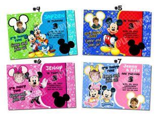 Mickey Mouse Minnie Mouse Custom Birthday Party invitation ticket