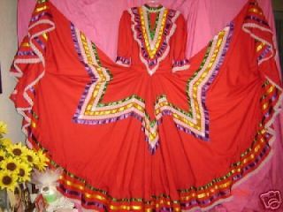 Womens Mexican Folklorico Dress Jalisco S/M ballet NEW