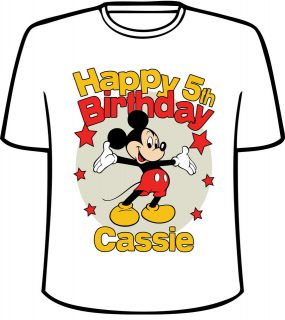 mickey mouse birthday shirt in Clothing,