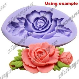 Rose Flower 1 Caviies Silicone Mold Mould For Polymer Clay Fimo Craf