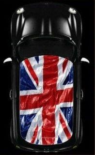 BMW MINI COOPER Car Roof Union Jack UK Flag Graphic Vinyl Sticker