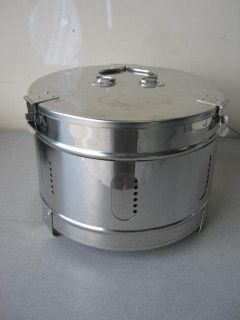 Steam Sterilizer Autoclave Stainless Steel Semi Solid Container Basket