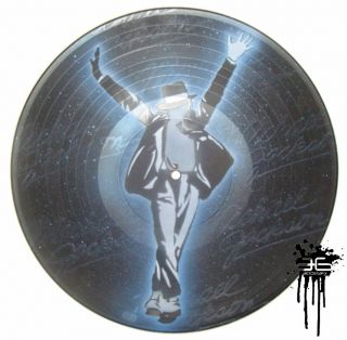 MICHAEL JACKSON #3   Art Painting Spray Paint LP Record Vinyl Graffiti