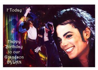 Personalised Michael Jackson Birthday Card Any Relation Dad Mum Sister