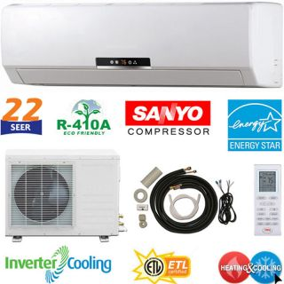 22 SEER Ductless Mini Split Air Conditioner Heat Pump  ENERGY STAR