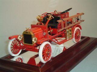 FIRE TRUCK 1916 FORD MODEL T FIRE ENGINE FRANKLIN MINT 116 DIECAST