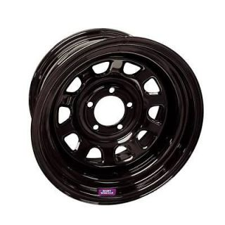 Bart Wheels D Trucker Black Steel Wheel 15x10 5x5.5 BC