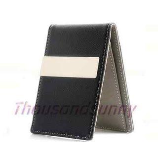 MONEY CLIP Faux Leather Pocket Wallet ID Bag Cash Holder Credit Card
