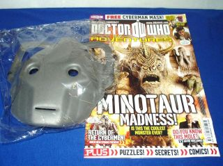 DOCTOR WHO ADVENTURES Magazine Issue 236 2011 Minotaur Cyberman Mask